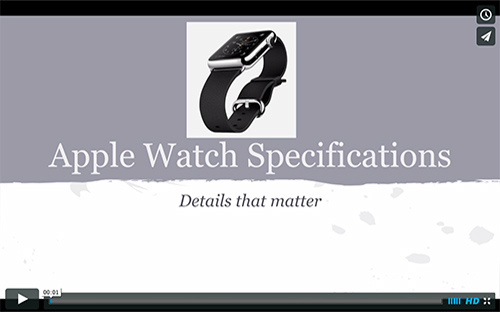 Apple Watch Overview Specifications