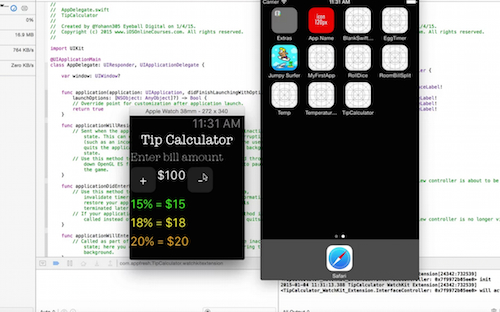 iOS developer tutorial change bill amount