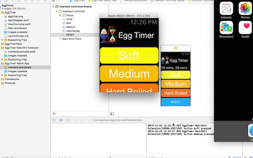 iOS app development tutorial egg time ibactions storyboard