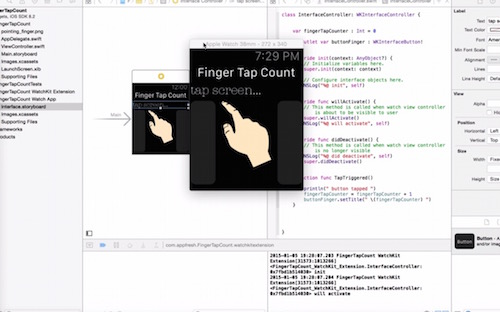 Finger Tap Count Apple Watch App tutorial