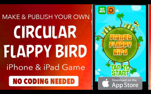 iOS App Development Tutorial | Make iPhone game without coding: Round Flappy Bird