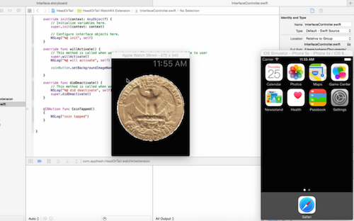 iOS app development tutorial add coin tap action