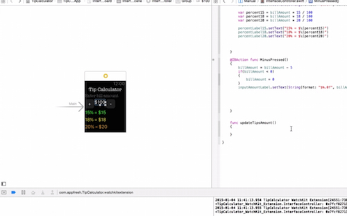 Refactor code watch app iOS app development tutorial