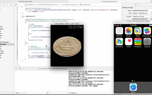 iOS app development tutorial testing coin flip