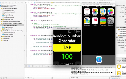 test watch app simulator iOS app development tutorial