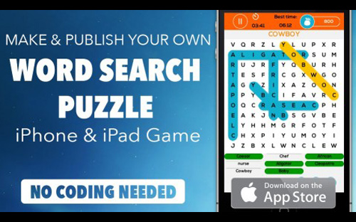 iOS App Development Tutorial | Word Search Puzzle game