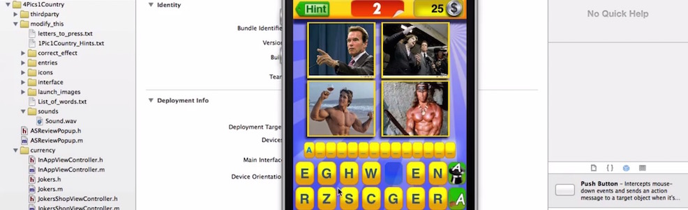 4 pics 1 word guessing game ios tutorial