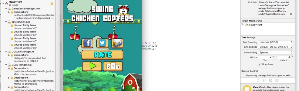 how to turn your Cocos2d iOS game into 64-bit