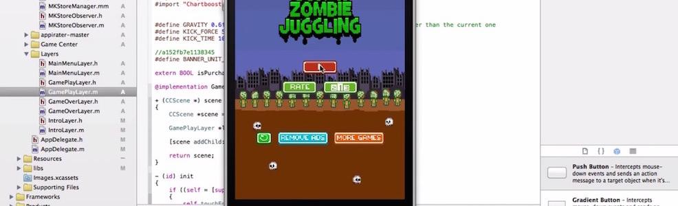 Zombie Juggling game iOS tutorial
